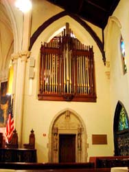 The organ at Church of the Incarnation