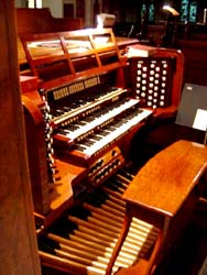Close up of the organ at Church of the Incarnation