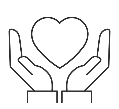 Illustration of hands cradling heart
