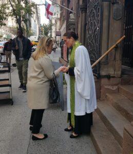 Outdoor prayer spiritual outreach
