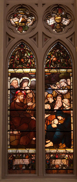 Church of the Incarnation Feeding the Multitudes window