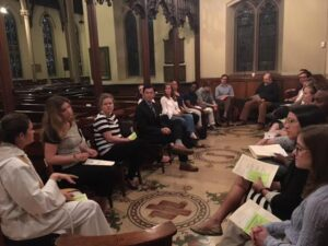 Discussion after Young Adult Eucharist