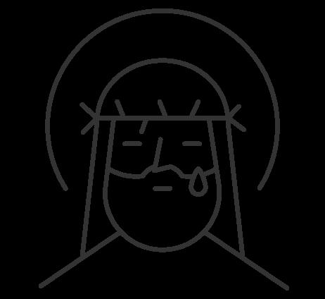 illustration of Jesus for Lent and Easter